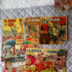 Livros de Banda Desenhada: YUKI EL TEMERARIO LOTE 6 TEBEOS ORIGINALES VALENCIANA. Lote 255423450