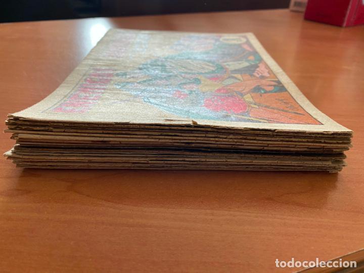 Tebeos: EL GUERRERO DEL ANTIFAZ LOTE 21 EJEMPLARES NUMEROS BAJOS (VALENCIANA) ORIGINAL (COIB31) - Foto 2 - 255547140