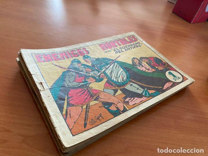 EL GUERRERO DEL ANTIFAZ LOTE 21 EJEMPLARES NUMEROS BAJOS (VALENCIANA) ORIGINAL (COIB31) (Tebeos y Comics - Valenciana - Guerrero del Antifaz)