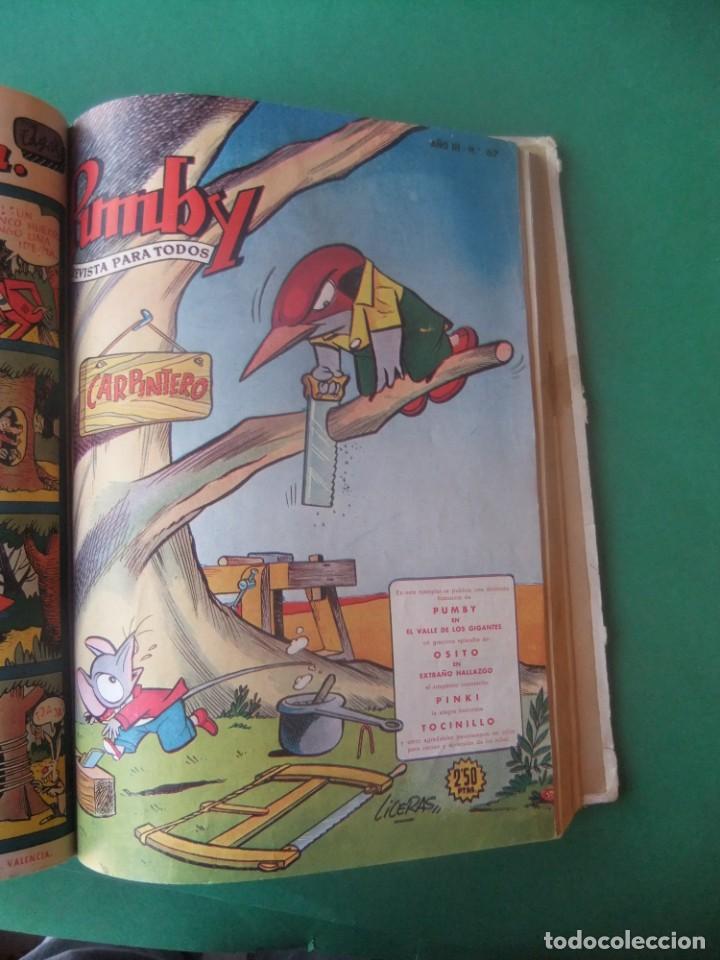 Tebeos: PUMBY TOMO CON 10 NUMEROS EDITORIAL VALENCIANA 1957 - Foto 9 - 255969825