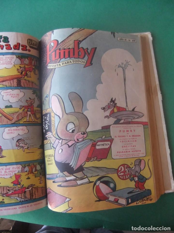 Tebeos: PUMBY TOMO CON 10 NUMEROS EDITORIAL VALENCIANA 1957 - Foto 10 - 255969825