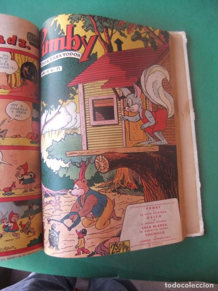 Tebeos: PUMBY TOMO CON 10 NUMEROS EDITORIAL VALENCIANA 1957 - Foto 12 - 255969825