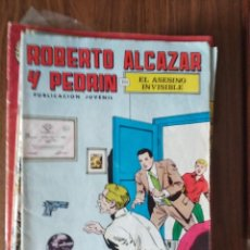 Tebeos: ROBERTO ALCAZAR Y PEDRÍN Nº 77: EL ASESINO INVISIBLE. Lote 256123680