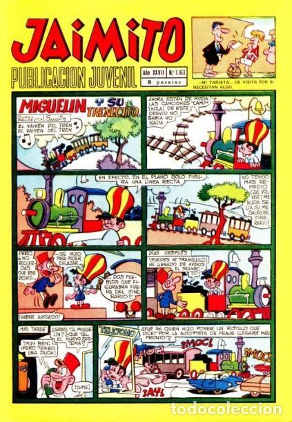 JAIMITO-SEMANAL- Nº 1163 -PALOP-KARPA-SANCHIS-SERAFÍN-CASTILLO-1972-BUENO-MUY DIFÍCIL-LEA-4629 (Tebeos y Comics - Valenciana - Jaimito)