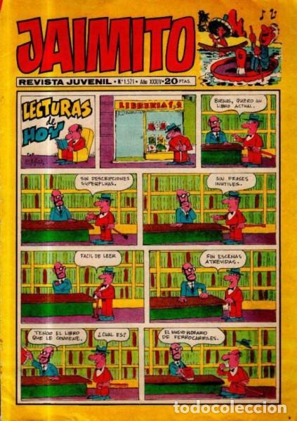 JAIMITO-SEMANAL- Nº 1521 -PALOP-KARPA-SANCHIS-SERAFÍN-LAGOA-SABATÉS-1979-BUENO-DIFÍCIL-LEA-4630 (Tebeos y Comics - Valenciana - Jaimito)
