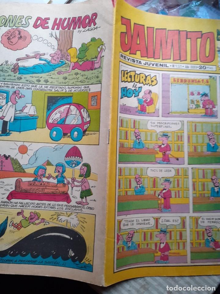 Tebeos: JAIMITO-SEMANAL- Nº 1521 -PALOP-KARPA-SANCHIS-SERAFÍN-LAGOA-SABATÉS-1979-BUENO-DIFÍCIL-LEA-4630 - Foto 3 - 257717130
