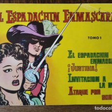 Tebeos: EL ESPADACHIN ENMASCARADO - TOMO RETAPADO Nº 1 - DEL Nº 1 AL 4 - ED. VALENCIANA. Lote 258610445