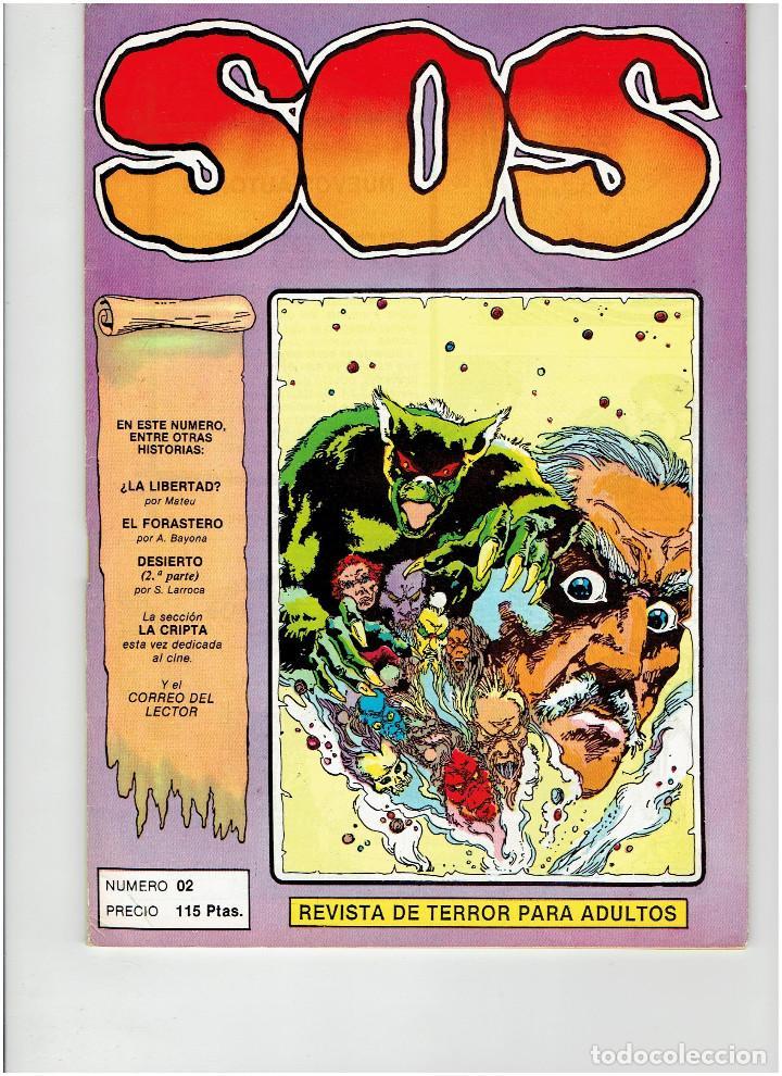 Tebeos: Archivo * 2 Comic SOS * Revista de terror para adultos nº 00 - 02. Editval 1984 * - Foto 4 - 260320550