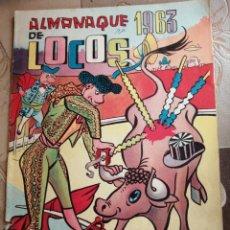 Livros de Banda Desenhada: ALMANAQUE DE LOCOS 1963 - EDITORIAL VALENCIANA. Lote 260364145