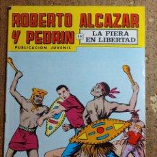 Tebeos: COMIC DE ROBERTO ALCAZAR Y PEDRIN EN LA FIERA EN LIBERTAD Nº 168. Lote 260374225