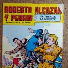 Tebeos: COMIC DE ROBERTO ALCAZAR Y PEDRIN EN EL TREN DE LA MUERTE Nº 153. Lote 260375205