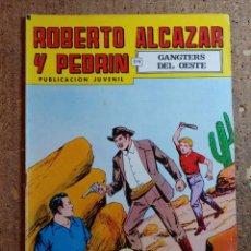 Tebeos: COMIC DE ROBERTO ALCAZAR Y PEDRIN EN GANSTERS DEL OESTE Nº 203. Lote 261220085