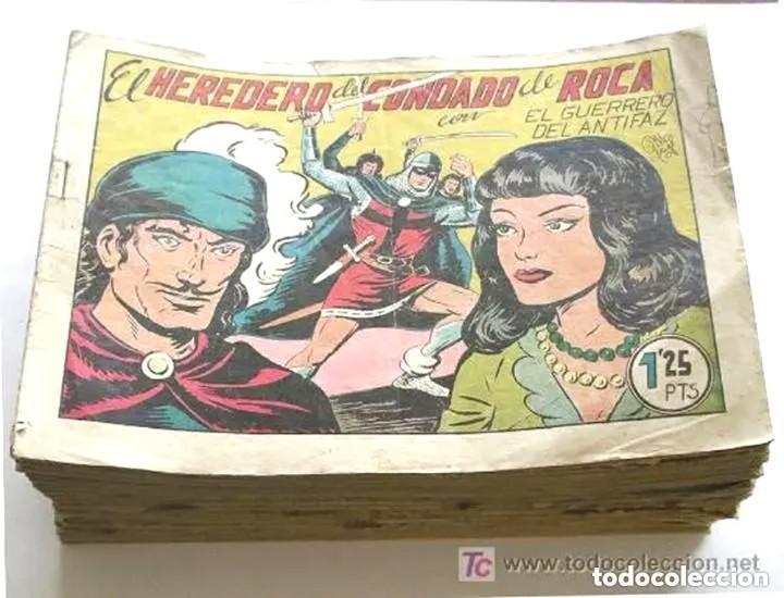 EL GUERRERO DEL ANTIFAZ 1ª EDICIÓN, LOTE DE 58 CÓMICS LISTA PUBLICADA, PRECIO UNIDAD (Tebeos y Comics - Valenciana - Guerrero del Antifaz)