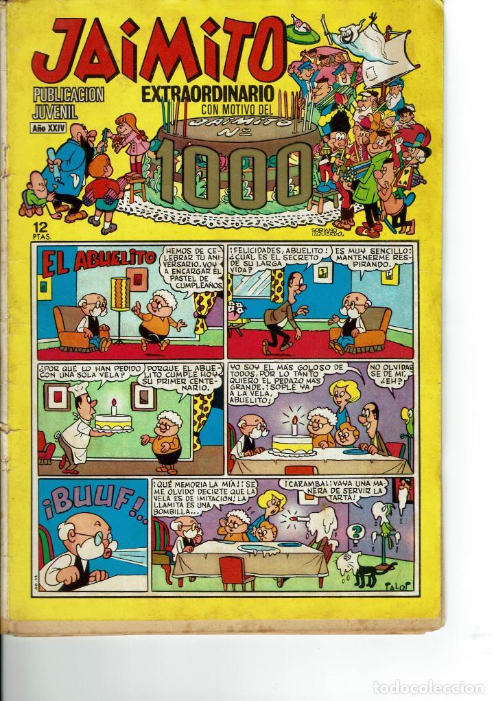 JAIMITO EXTRA 1000 DE 1969 ( SE ESTUDIAN OFERTAS) (Tebeos y Comics - Valenciana - Jaimito)