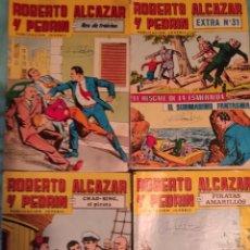 Tebeos: ROBERTO ALCAZAR Y PEDRIN. 2ª SEGUNDA EPOCA - VALENCIANA.- COLOR.- LOTE DE 4 REVISTAS.- EXTRA 31. Lote 262078200