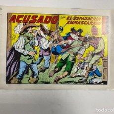 Tebeos: EL ESPADACHIN ENMASCARADO. Nº 42.- ACUSADO. EDITORA VALENCIANA. Lote 262456485