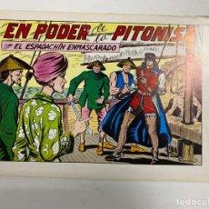 Tebeos: EL ESPADACHIN ENMASCARADO. Nº 66.- EN PODER DE LA PITONISA. EDITORA VALENCIANA. Lote 262456705