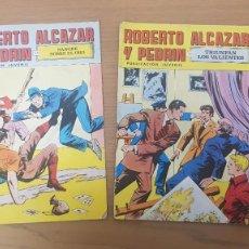 Tebeos: LOTE 2 COMICS ROBERTO ALCAZAR Y PEDRIN PUBLICACION JUVENIL AÑOS 50 EDITORIAL VALENCIANA. Lote 262486795