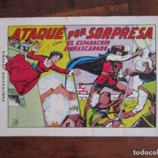 Tebeos: EL ESPADACHÍN ENMASCARADO Nº 4. ATAQUE POR SORPRESA. 2ª ED. REEDICIÓN AÑOS 80. EDITORIAL VALENCIANA. Lote 263124320