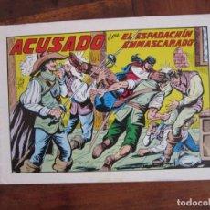 Tebeos: EL ESPADACHÍN ENMASCARADO Nº 42. ACUSADO. 2ª ED. REEDICIÓN AÑOS 80. EDITORIAL VALENCIANA. Lote 263124440