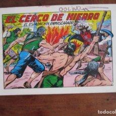 Tebeos: EL ESPADACHÍN ENMASCARADO Nº 28. EL CERCO DE HIERRO. 2ª ED. REEDICIÓN AÑOS 80. EDITORIAL VALENCIANA. Lote 263124680