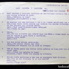 Tebeos: GUIÓN ORIGINAL FEDERICO AMORÓS MARTÍN, EDITORIAL VALENCIANA, 1964. DAVI COCRETA Y KACHIMBA EN ¡LLEGA. Lote 263244060