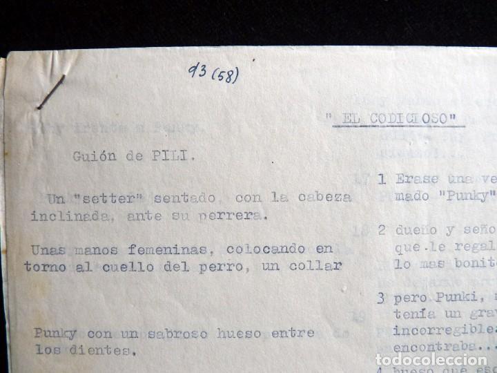 """Tebeos: GUIÓN ORIGINAL DE PILI - Mª PILAR DE MOLINA PÉREZ -, EDITORIAL VALENCIANA, AÑOS 50. """"EL CODICIOSO"""", - Foto 2 - 263244380"""