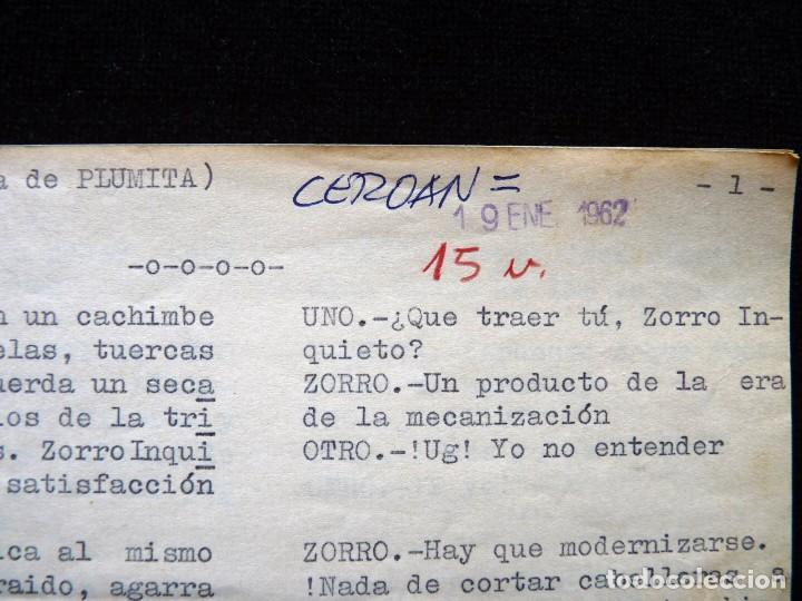 """Tebeos: GUIÓN ORIGINAL DE VICENTE TORTAJADA LÓPEZ, EDITORIAL VALENCIANA, 1962. PLUMINTA EN """"TIEMPOS MODERNOS - Foto 2 - 263244545"""