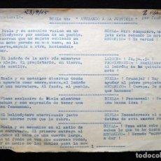 """Tebeos: GUIÓN ORIGINAL DE JOSÉ J. DEU SORIOANO, EDITORIAL VALENCIANA, 1965. BIELA EN """"AYUDANDO A LA JUSTICIA. Lote 263244620"""