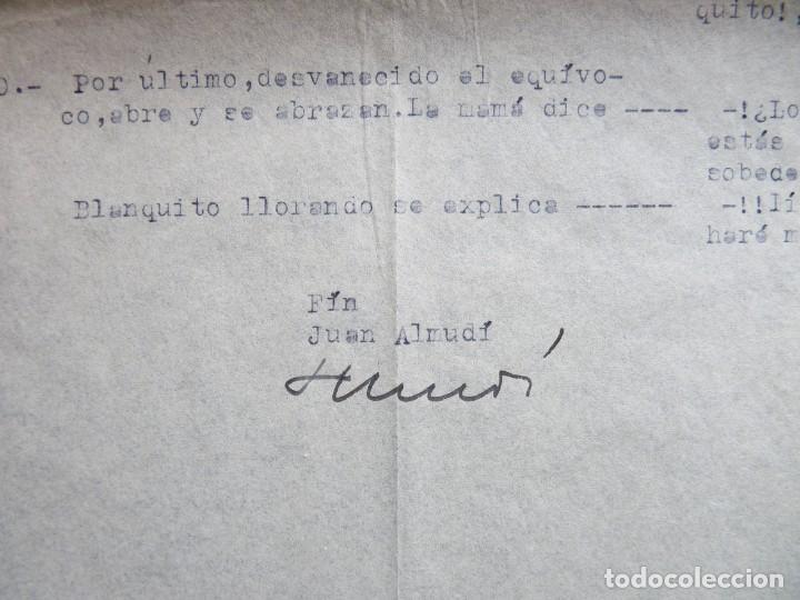 """Tebeos: GUIÓN ORIGINAL DE JUAN ALMUDÍ, EDITORIAL VALENCIANA, AÑOS 50. """"BLANQUITO"""" Y SU AMIGO """"LOBÍN"""". FIRMA - Foto 3 - 263244730"""