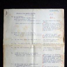 """Tebeos: GUIÓN ORIGINAL DE JUAN ALMUDÍ, EDITORIAL VALENCIANA, AÑOS 50. EL GATITO """"GATÍN"""". FIRMA. Lote 263244850"""