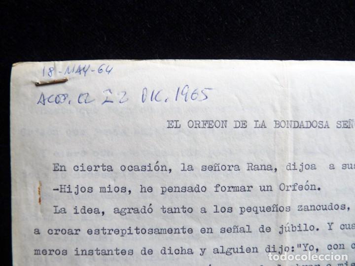 Tebeos: GUIÓN ORIGINAL DE MANUEL SORIA, EDITORIAL VALENCIANA, 1964. EL ORFEÓN DE LA BOMDADOSA SEÑORA RANA. P - Foto 2 - 263245185