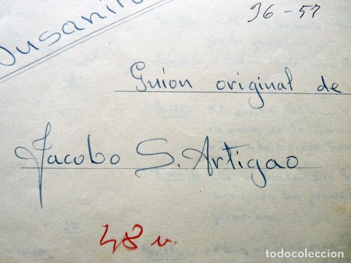 Tebeos: GUIÓN ORIGINAL DE JACOBO SÁNCHEZ ARTIGAO, EDITORIAL VALENCIANA, AÑOS 50. DON GUSANITO. PUMBY - Foto 2 - 263245305
