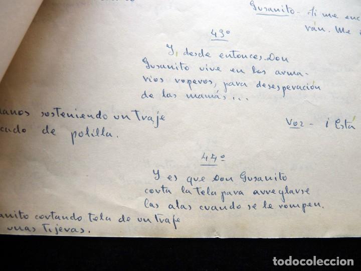 Tebeos: GUIÓN ORIGINAL DE JACOBO SÁNCHEZ ARTIGAO, EDITORIAL VALENCIANA, AÑOS 50. DON GUSANITO. PUMBY - Foto 3 - 263245305