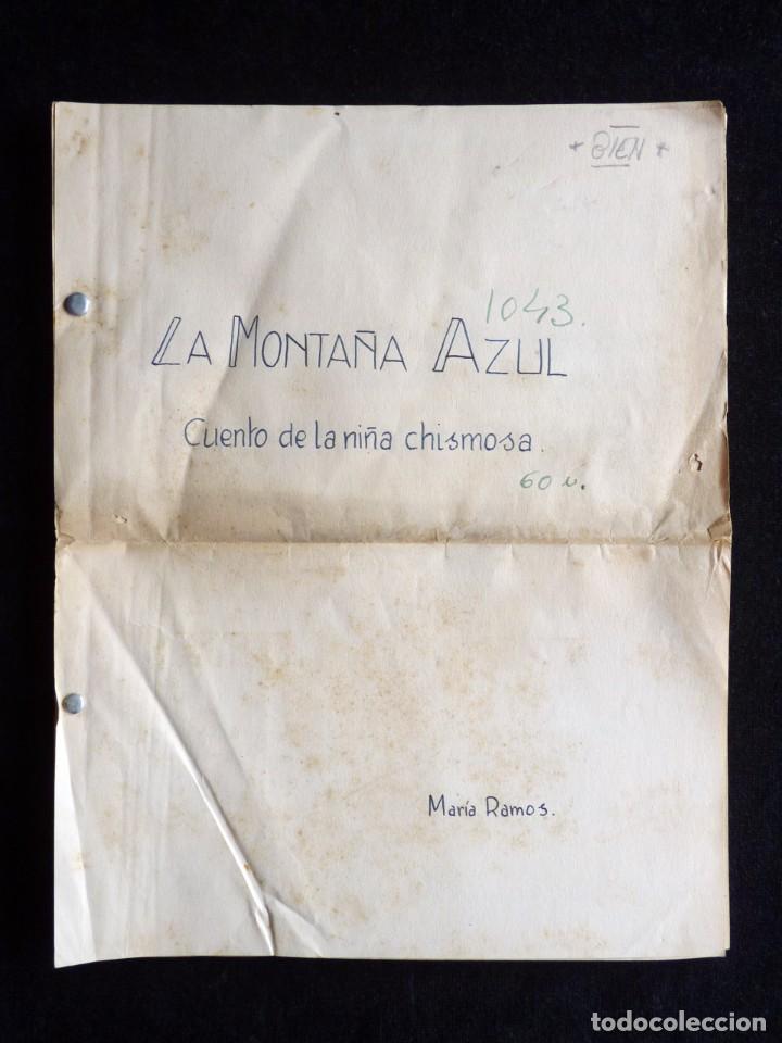 GUIÓN ORIGINAL DE MARÍA RAMOS, EDITORIAL VALENCIANA, AÑOS 50. LA MONTAÑA AZUL. CUENTO DE LA NIÑA CHI (Tebeos y Comics - Valenciana - Otros)