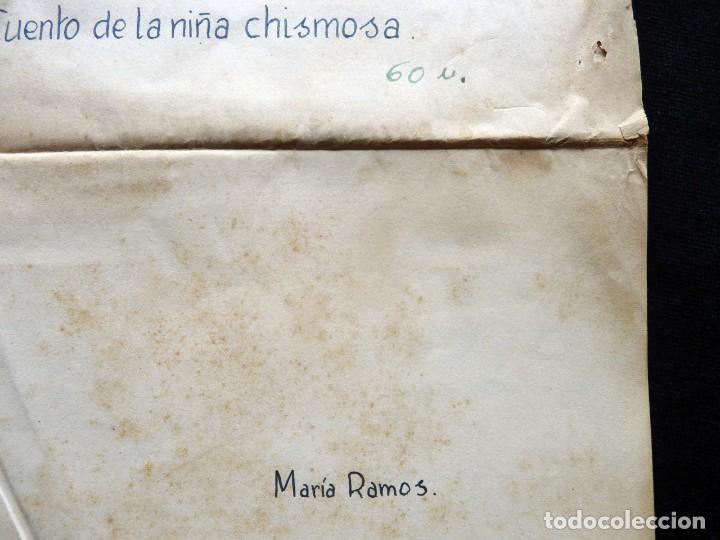 Tebeos: GUIÓN ORIGINAL DE MARÍA RAMOS, EDITORIAL VALENCIANA, AÑOS 50. LA MONTAÑA AZUL. CUENTO DE LA NIÑA CHI - Foto 2 - 263245695