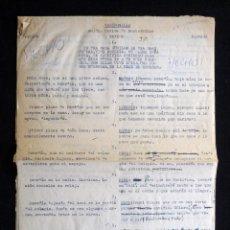 Tebeos: GUIÓN ORIGINAL DE CARLOS DE MONTERROBLE, EDITORIAL VALENCIANA, AÑOS 50. VANIDOSILLA. Lote 263245800