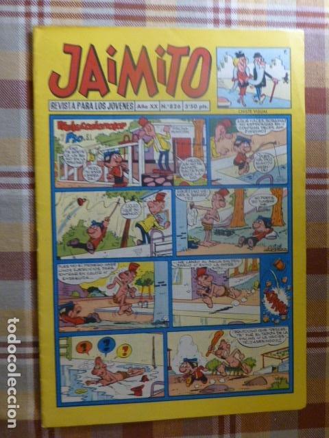 COMIC JAIMITO Nº 826 DE VALENCIANA (Tebeos y Comics - Valenciana - Jaimito)