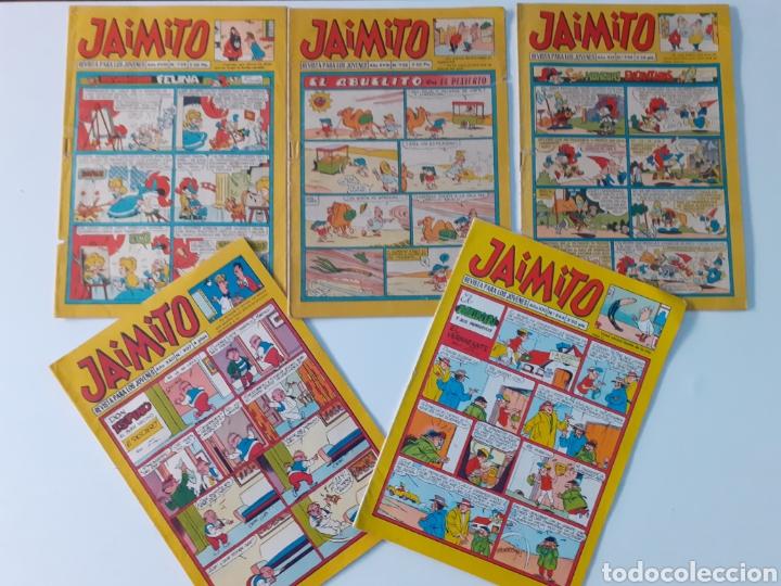 LOTE DE 5 COMICS JAIMITO, REVISTA PARA LOS JÓVENES, EDITORIAL VALENCIANA. AÑOS 60. BUEN ESTADO. (Tebeos y Comics - Valenciana - Jaimito)