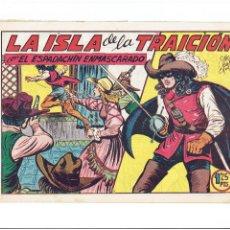 Tebeos: ARCHIVO * EL ESPADACHIN ENMASCARADO, Nº 156, LA ISLA DE LA TRAICION * VALENCIANA 1952 *. Lote 266264563