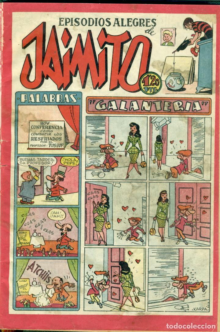 LOTE DE NUEVE EJEMPLARES DE JAIMITO DEL AÑO 1.948 ENCUADERNADOS (Tebeos y Comics - Valenciana - Jaimito)