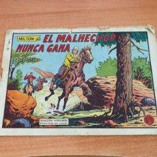 Tebeos: MILTON EL CORSARIO Nº 130 EL MALECHOR NUNCA GANA. ULTIMO NUMERO (ORIGINAL VALENCIANA) (COIB61). Lote 267785439