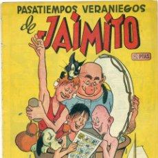Tebeos: EXTRA PASATIEMPOS VERANIEGOS DE JAIMITO ORIGINAL PROCEDE DE ENCUADERNACION. Lote 269270358