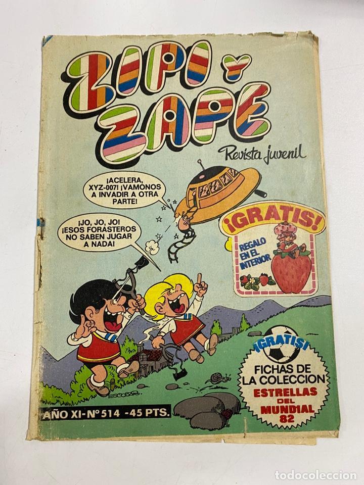 ZIPI Y ZAPE. REVISTA JUVENIL. AÑO XI. Nº 514. EDITORIAL BRUGUERA (Tebeos y Comics - Valenciana - Jaimito)