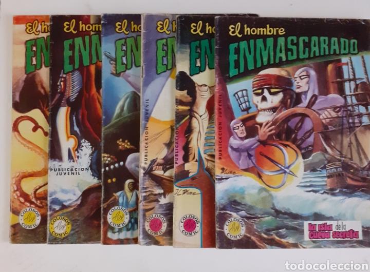 EL HOMBRE ENMASCARADO. 6 NUMEROS: 6, 7, 12, 20, 23, 27. COLOSOS DEL COMIC. ED. VALENCIANA, 1979 (Tebeos y Comics - Valenciana - Colosos del Comic)