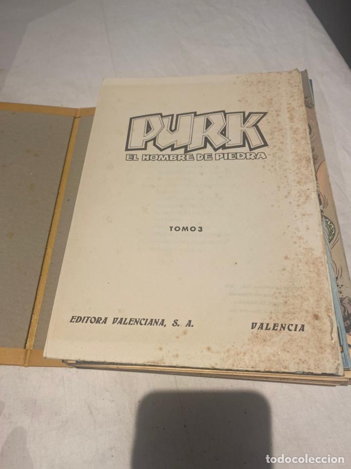 Tebeos: COLECCIÓN PURK EL HOMBRE DE PIEDRA COMPLETA. Encuaderno número 3 con 24 ejemplares de 51 A 75 . - Foto 3 - 276032258