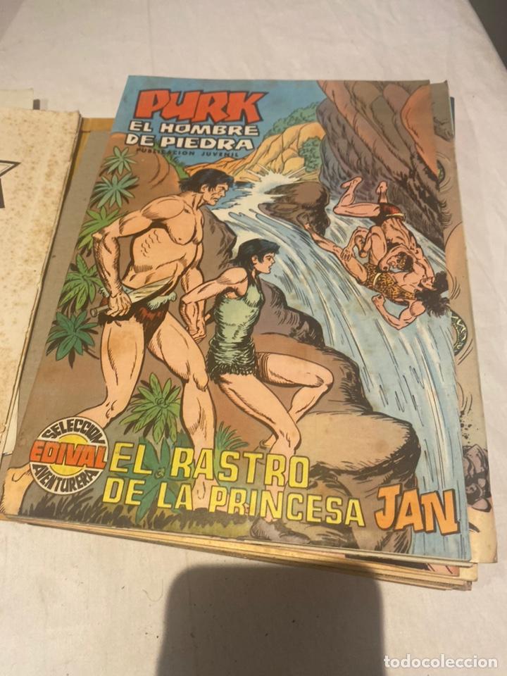 Tebeos: COLECCIÓN PURK EL HOMBRE DE PIEDRA COMPLETA. Encuaderno número 3 con 24 ejemplares de 51 A 75 . - Foto 7 - 276032258