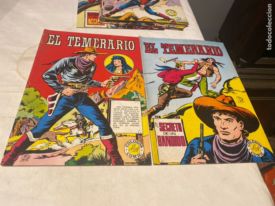Tebeos: El Temerario. Colosos de Comic. Completa. 10 Ejemplares. Manuel Gago. tebeni Valenciana 1981. MBE - Foto 2 - 276036958