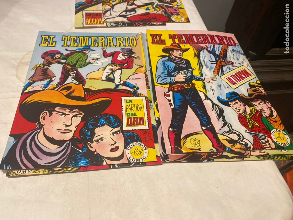 Tebeos: El Temerario. Colosos de Comic. Completa. 10 Ejemplares. Manuel Gago. tebeni Valenciana 1981. MBE - Foto 5 - 276036958