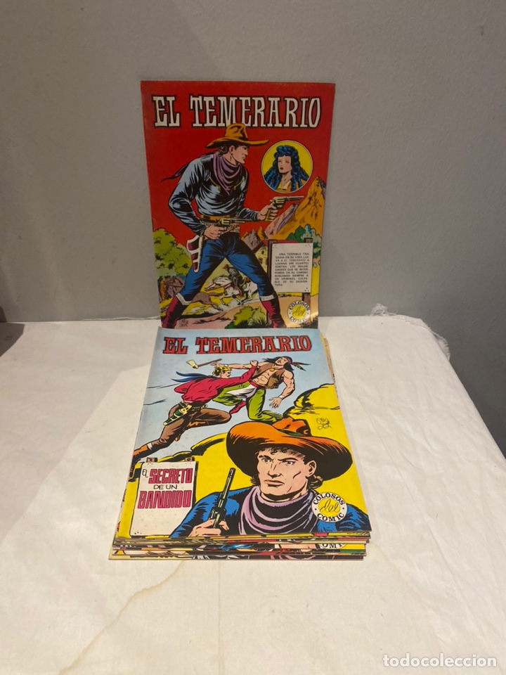 EL TEMERARIO. COLOSOS DE COMIC. COMPLETA. 10 EJEMPLARES. MANUEL GAGO. TEBENI VALENCIANA 1981. MBE (Tebeos y Comics - Valenciana - Colosos del Comic)